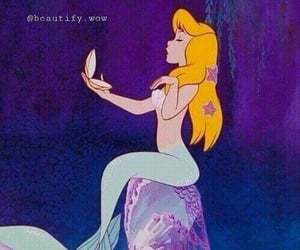 mermaid, bitch, and cartoon image