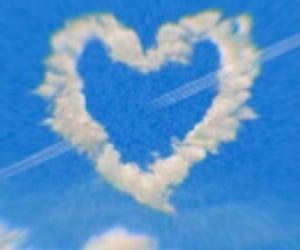 heart, sky, and theme image