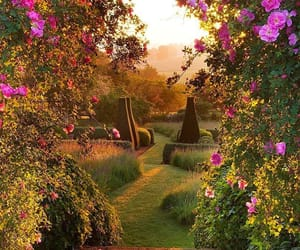 garden, nature, and medieval image