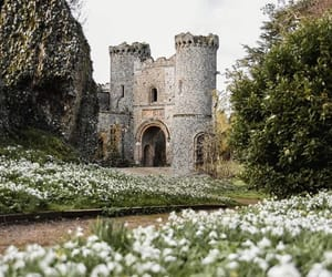castle, medieval, and nature image