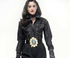 black, Dolce & Gabbana, and model image