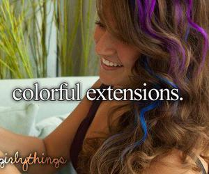 girl, hair, and extensions image