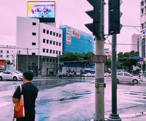 city, korea, and street image