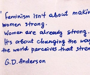 quotes, feminism, and strong image