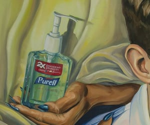 art, paintings, and sanitizer image