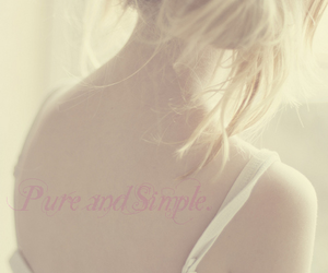 blonde, girl, and pure image