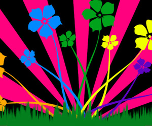 bold, flowery, and funky image