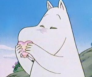aesthetic, icon, and moomin image