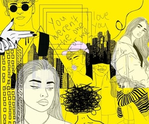 city, yellow, and girly image