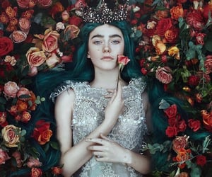 fantasy, flowers, and girl image