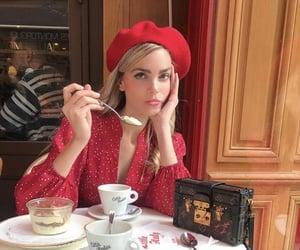 aesthetics, beret, and coffee image