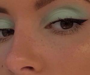 makeup, girl, and green image