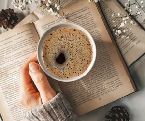 coffee time, ☕, and book time image