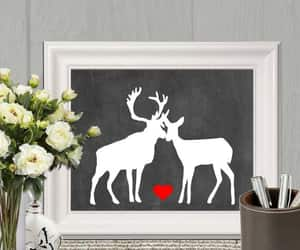 black and white, redheart, and valentine decor image