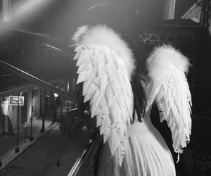 angel, beauty, and black and white image