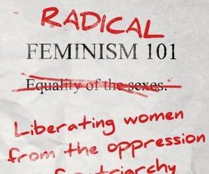 feminism, feminist, and radical feminism image