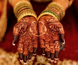 asian, henna, and india image