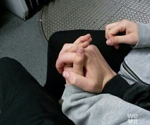 boy, holding hands, and Relationship image