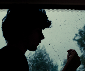 boy, book, and rain image