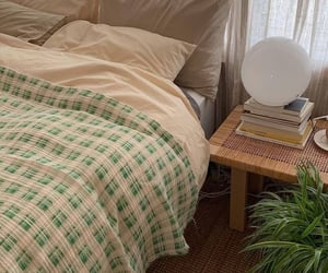 green, aesthetic, and bed image