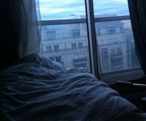 grunge, bed, and blue image