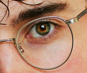 eyes, glasses, and harry potter image