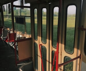 aesthetic, bus, and green image
