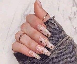 nails, stars, and glitter image