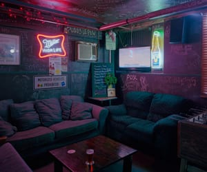 neon, room, and grunge image