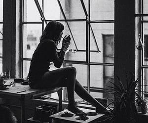 girl, smoking, and mood image