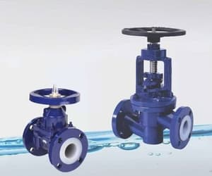 diaphragm valve, lined flush bottom valve, and butterfly valve supplier image