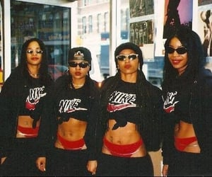 90s, black, and outfit image