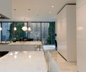 interior design, white gloss, and kitchen beautiful image
