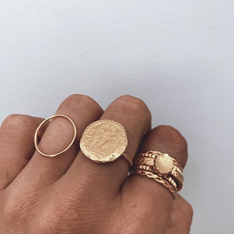 gold, rings, and ring image