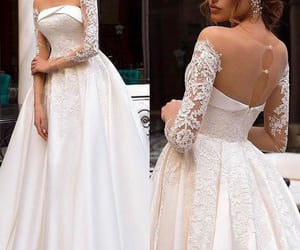 novia, dress, and wedding image