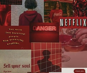red, aesthetic, and background image