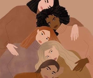 girls, skin color, and women's day image