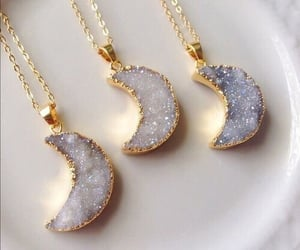 moon, necklace, and accessories image