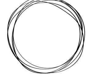 black & white, circles, and pinterest image