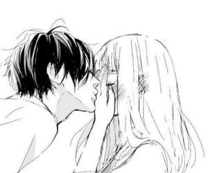 kiss, love, and anime image