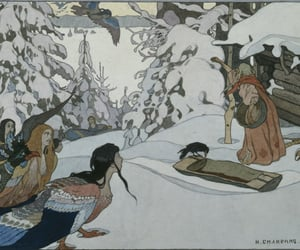 baba yaga, bird, and fairy tale image