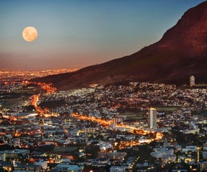 moon, cape town, and city image