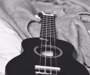 guitar, music, and black image