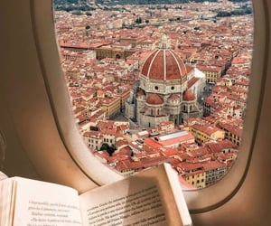 airplane, book, and italy image
