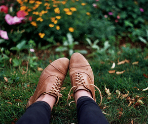 shoes, flowers, and photography image