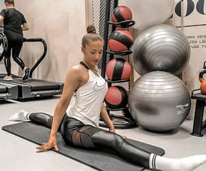 fitness, gym, and splits image