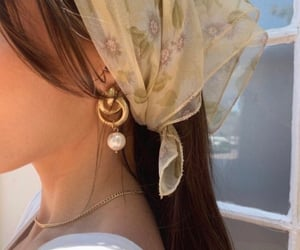 aesthetic, earring, and hair image