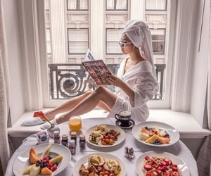inspiration, breakfast, and girl image