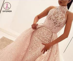 ball gown, prom dress, and pink prom dress image