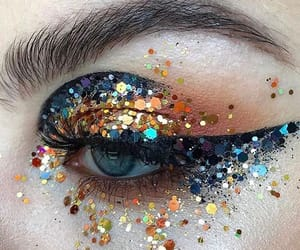 festival, make up, and glitter image